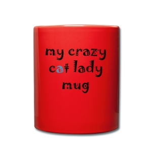 Crazy cat lady mug - Ensfarvet krus