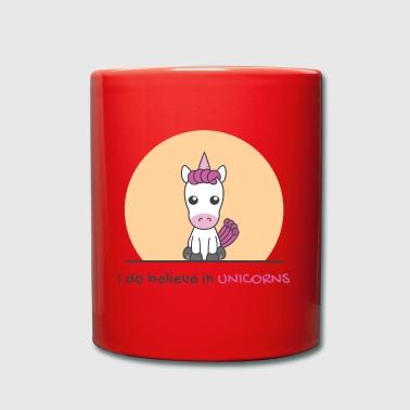 Kawai rosa Einhorn - Tasse einfarbig