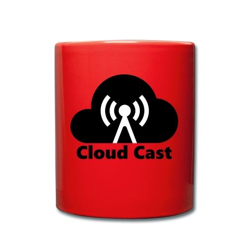 Cloud Cast Black mit Schriftzuga - Tasse einfarbig