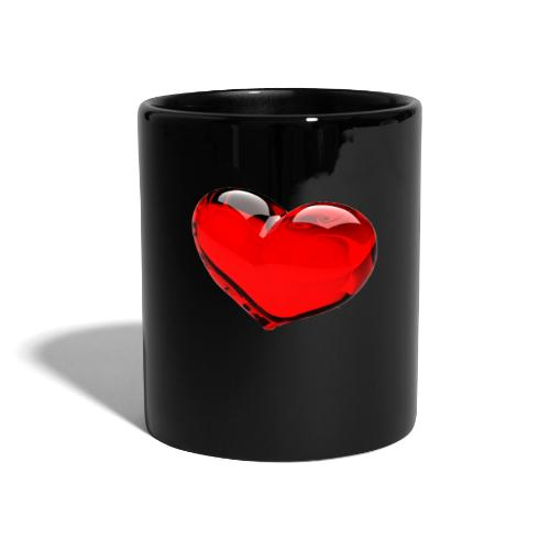 serce 3D - Kubek jednokolorowy