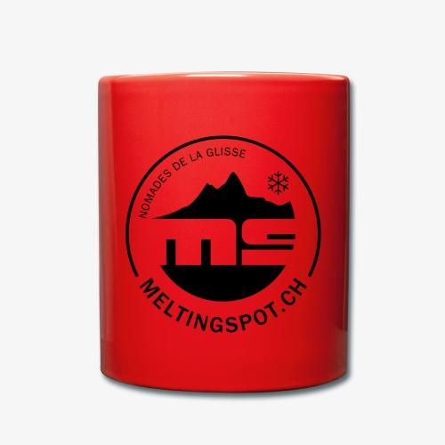 logo MS_noir - Tasse einfarbig