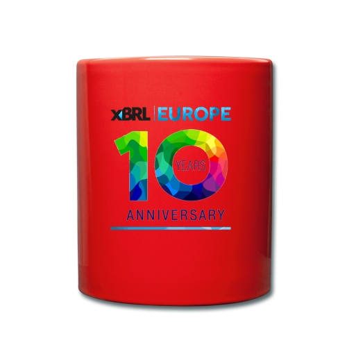 10th anniversary of XBRL Europe - Full Colour Mug