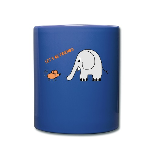 Elephant and mouse, friends - Full Colour Mug