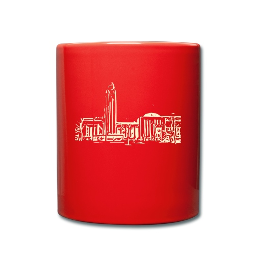 Helsinki railway station pattern trasparent beige - Full Colour Mug