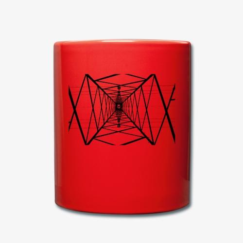 Quermast V2 Schwarz - Tasse einfarbig