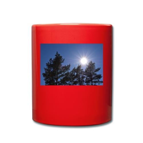 Aurinko maisema - Yksivärinen muki
