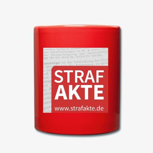 Strafakte.de Logo - Tasse einfarbig