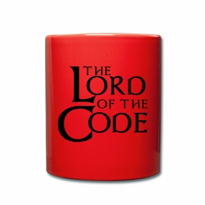 The Lord of the Code - Kubek jednokolorowy
