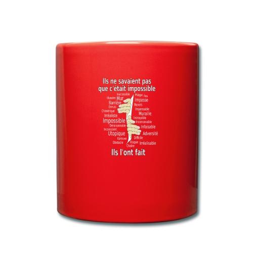 Impossible et fait Hommes mains Fond Sombre - Mug uni