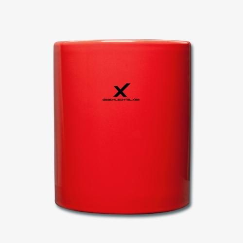 X - Tasse einfarbig