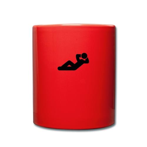 liegen - Tasse einfarbig