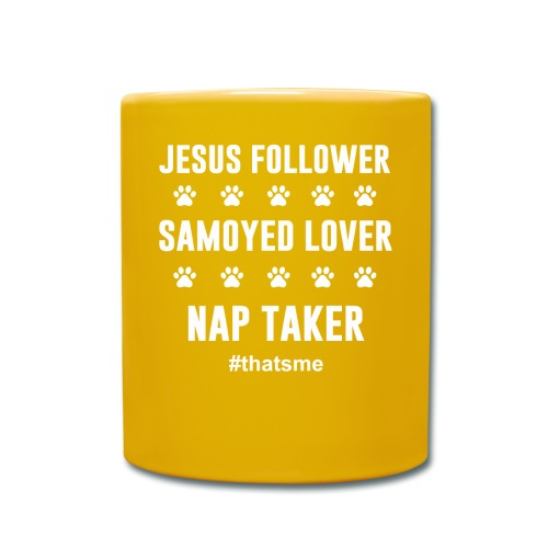 Jesus follower samoyed lover nap taker - Full Colour Mug