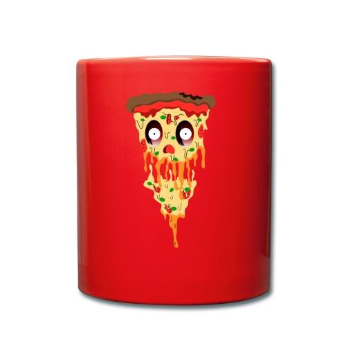 Schockierte Horror Pizza - Tasse einfarbig