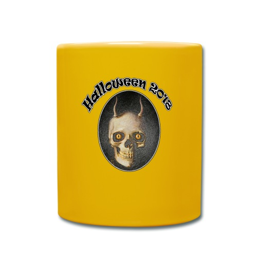 Halloween 2018 Horned Devil Skull - Full Colour Mug