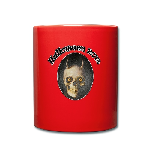 Halloween 2018 Horned Devil Skull - Full Colour Mug