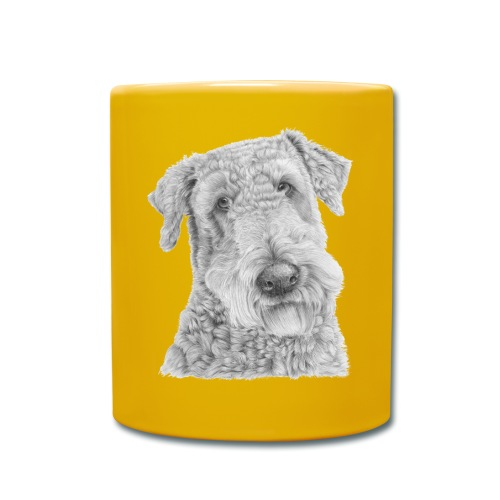 airedale terrier - Ensfarvet krus
