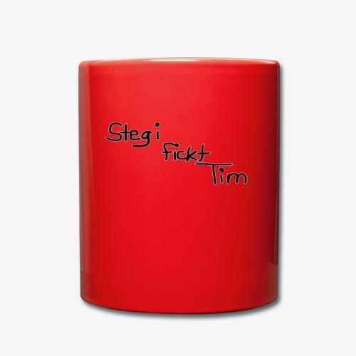 Stegi fickt Tim - Tasse einfarbig