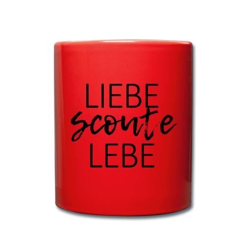 Liebe Scoute Lebe Lettering - Farbe frei wählbar - Tasse einfarbig