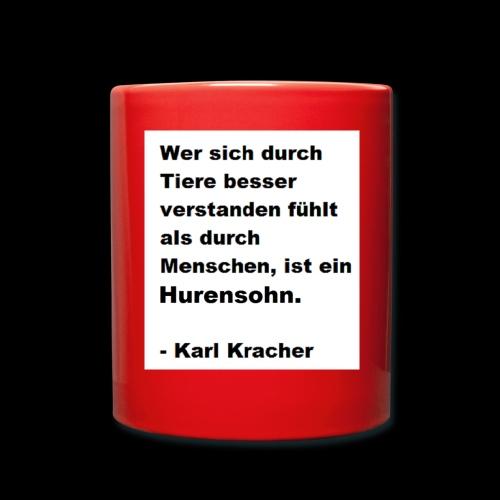 Josef Jugend Karl Kracher Zitat Tiere - Tasse einfarbig