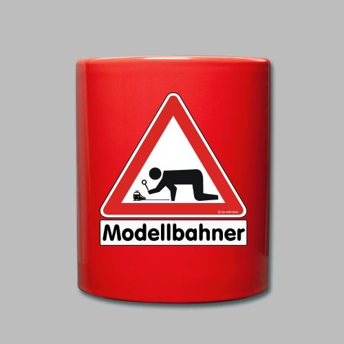 Warnschild Modellbahner E Lok - Tasse einfarbig