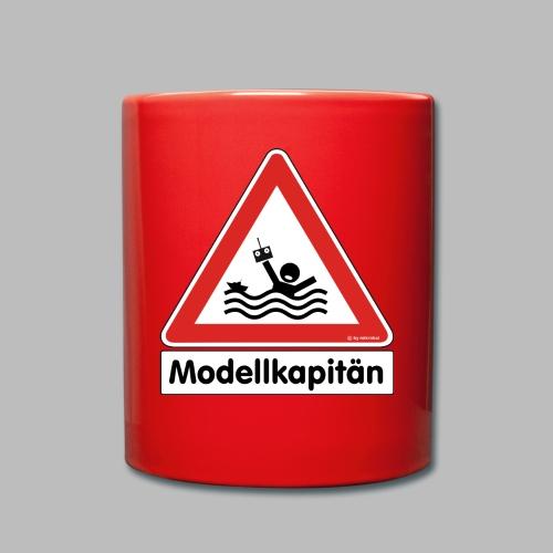 Warnschild Modellkapitän - Tasse einfarbig