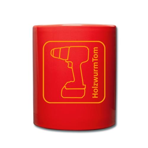 HolzwurmTom Logo - Tasse einfarbig