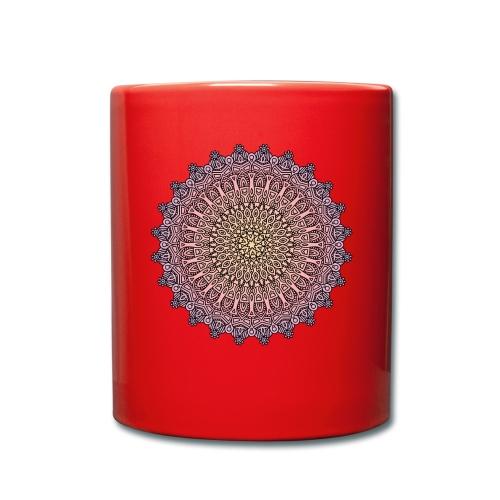 Mandala Sonnenuntergang - Tasse einfarbig