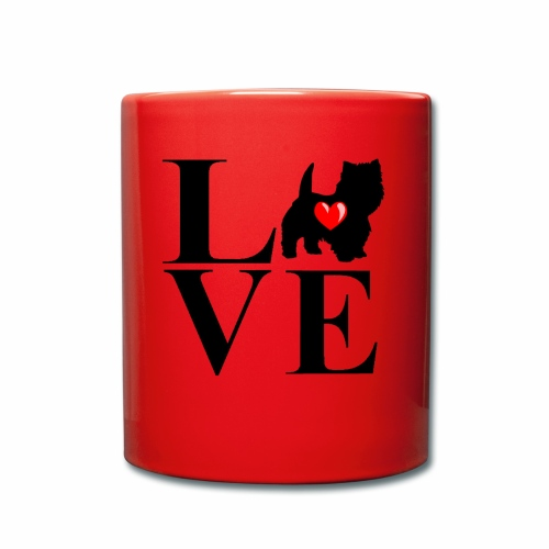 westie love design - Full Colour Mug