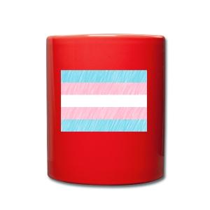 Trans Flag Pattern - Tasse einfarbig