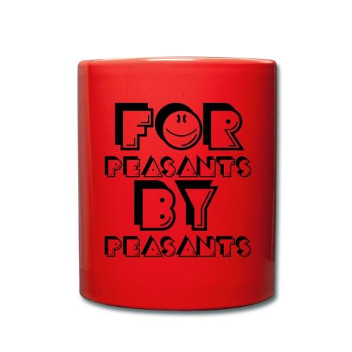 For Peasants By Peasants (Black) - Full Colour Mug