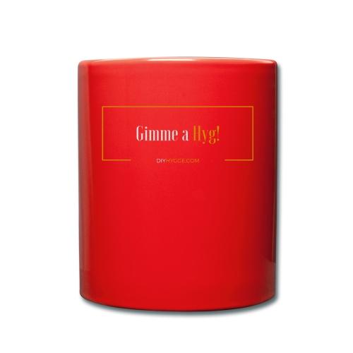 Gimme a Hyg, Grey and Orange - Full Colour Mug