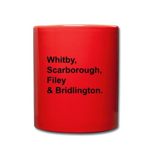 TYS Yorkshire Coast Towns - Full Colour Mug