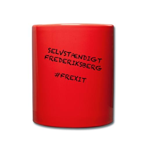 Selvstændigt Frederiksberg #FREXIT - Ensfarvet krus
