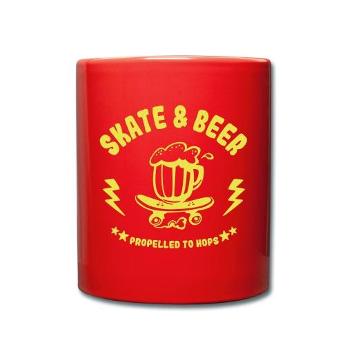 skateboard et bière - Mug uni