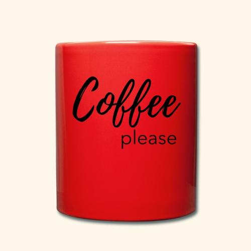 Coffee please - Statementshirt für Mamas - Tasse einfarbig