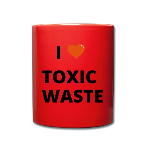 real genius i heart toxic waste - Full Colour Mug