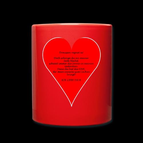 Liebesgedicht - Tasse einfarbig