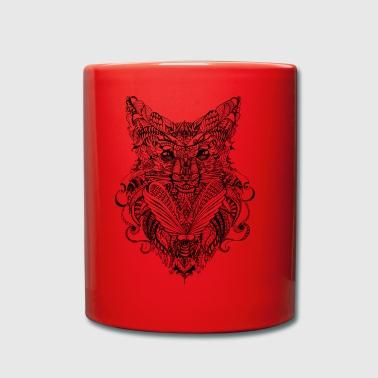 doodle Fuchs - Tasse en couleur