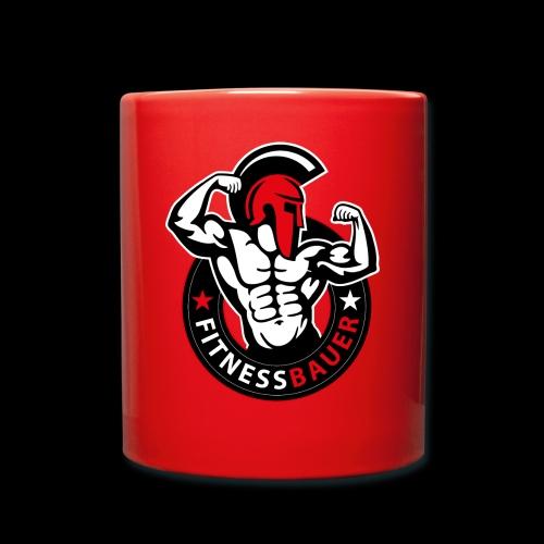 FitnessBauer in Rot - Tasse einfarbig