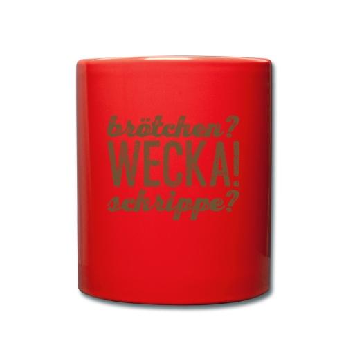 WECKA! - Tasse einfarbig
