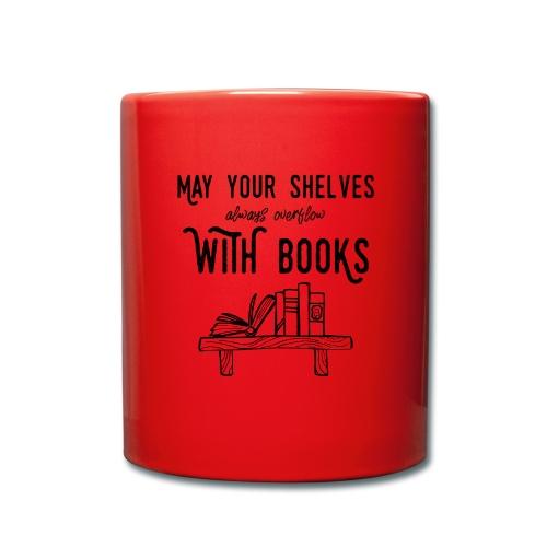 0036 bookshelf   Stack of books   Book   Read - Full Colour Mug