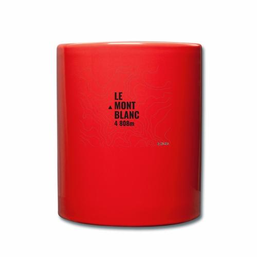 Mont Blanc et courbes de niveau - Mug uni