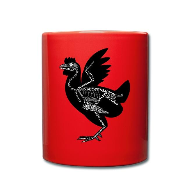 Huhn-Skelett | Tasse einfarbig