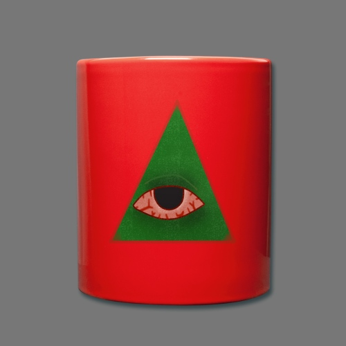 illuminati eye - Taza de un color