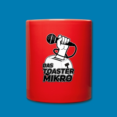 Toaster-Mikrofon Logo - Tasse einfarbig