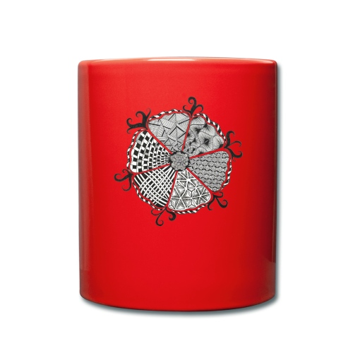 Doodle Blume - Tasse einfarbig