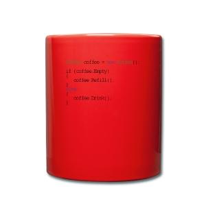 Kaffee Design für Programmierer und Coder - css - Tasse einfarbig