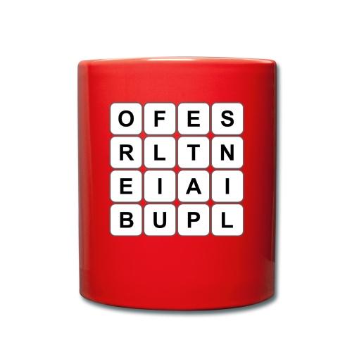 Grille 493 mots - Lettres verticales - Mug uni