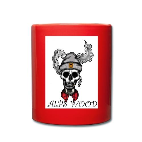 Alps Wood Lumberjack mit Logo - Tasse einfarbig