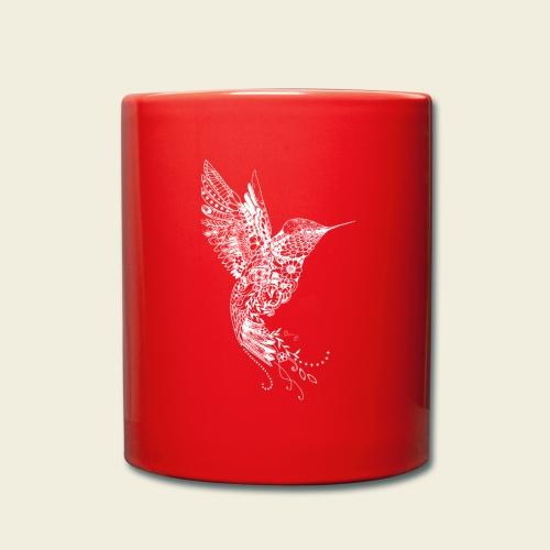 Großer Kolibri in weiß - Tasse einfarbig